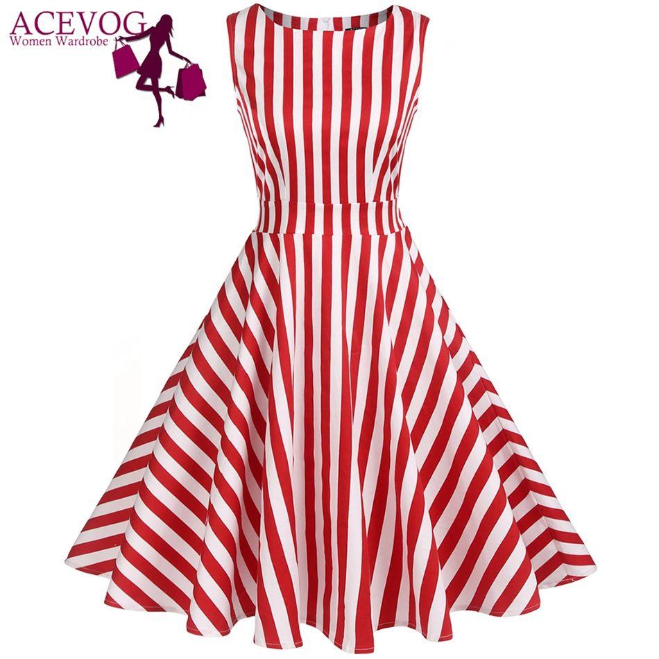 comprar ACEVOG Vintage Vestido de Las Mujeres 1950 S 60 S Retro ...