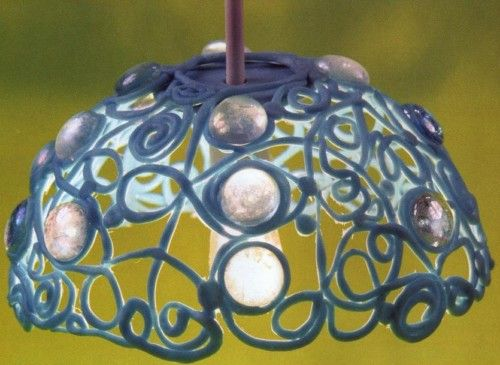 L mpara decorativa con porcelana manualidades de hogar - Manualidades con lamparas ...