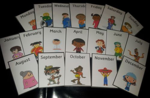 Multicultural Days And Months 19 Flash Cards Ofsted Eyfs Ks1 Pre