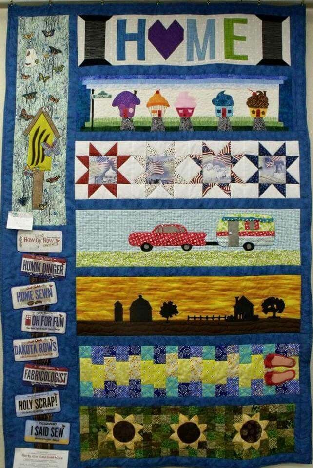 2016 Row by Row. Made by Beverly Splinter, on display at Dakota ... : dakota quilt shop - Adamdwight.com