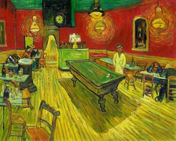 The Night Cafe-Vincent van Gogh hand-painted oil by PaintingMania