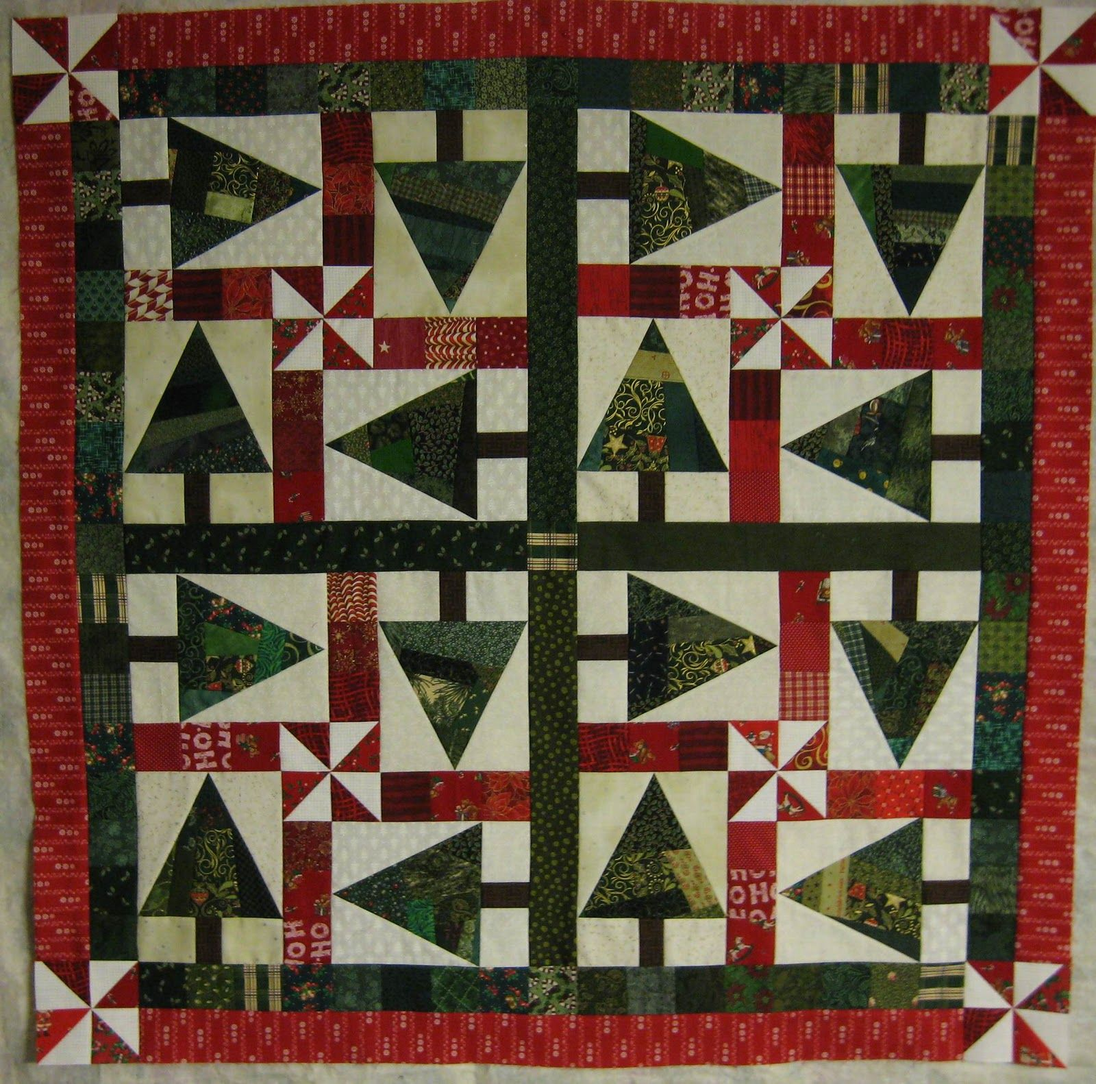 Christmas Tree Quilt Or Pillow