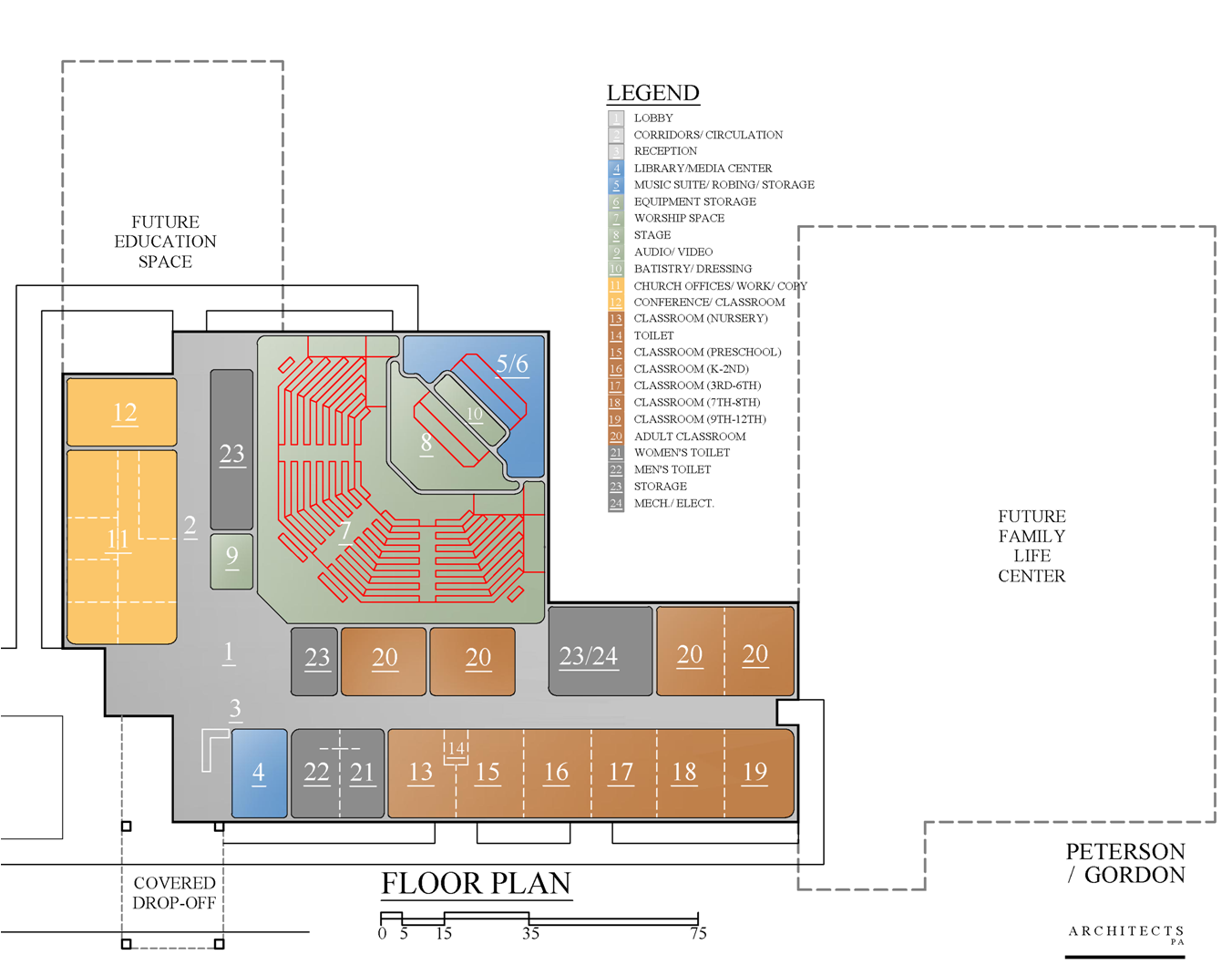 Contemporary worship blueprints church building for Traditional church floor plans