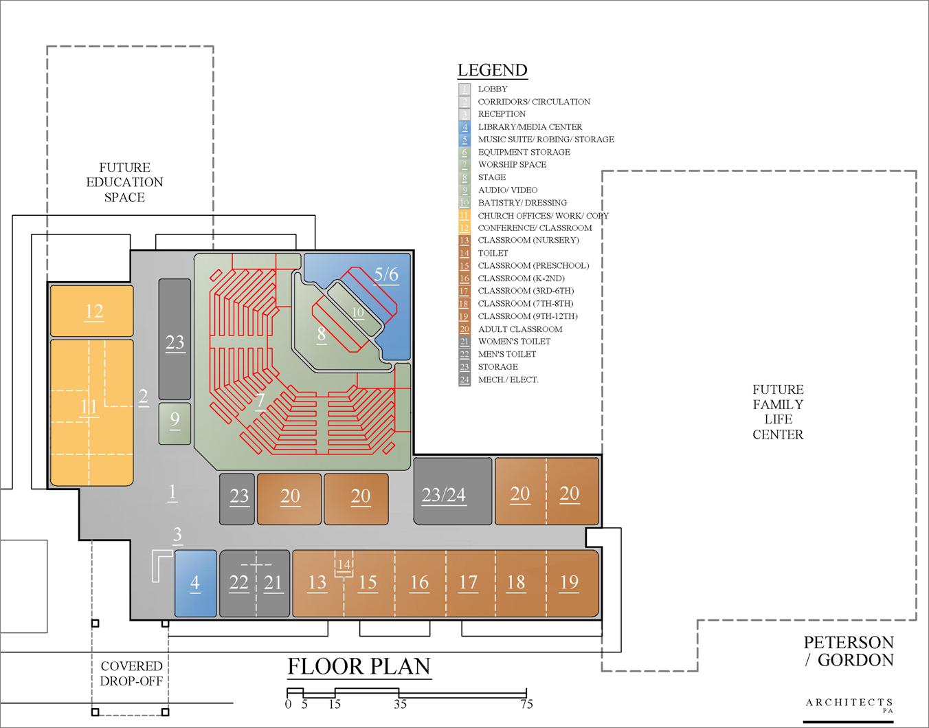 100 Church Floor Plan Designs Plans Of The