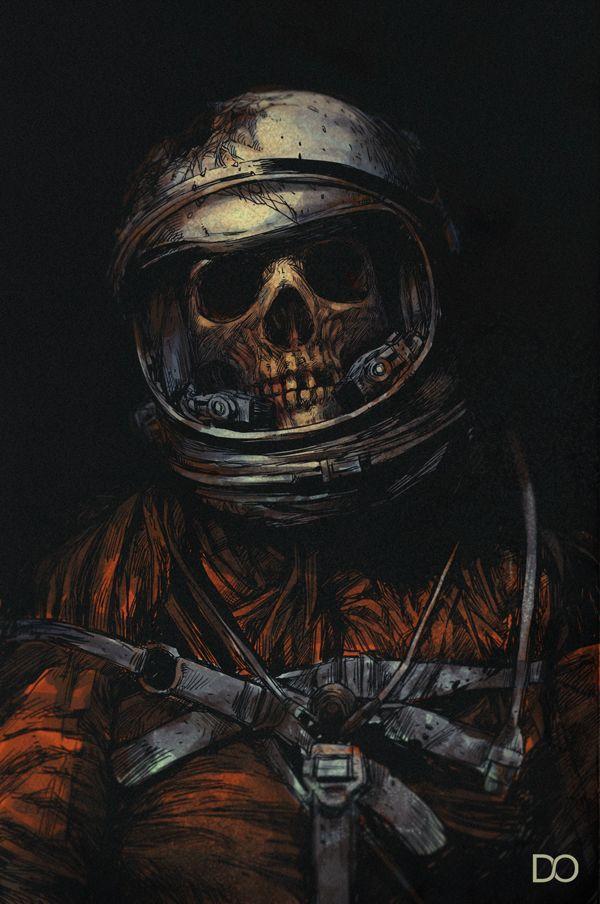 d8751929ff1d Dead astronaut by Carbine   Sci Fi   Skull art, Skull, Horror art