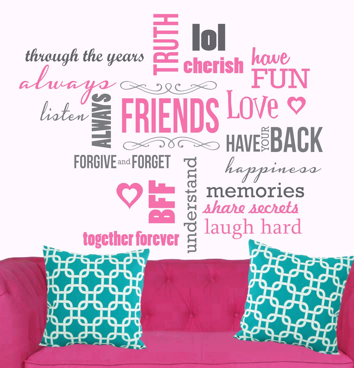 Vinyl Wall Decal Inspirational Words *FRIENDS*. Perfect For A Teenage Girlu0027s  Room.