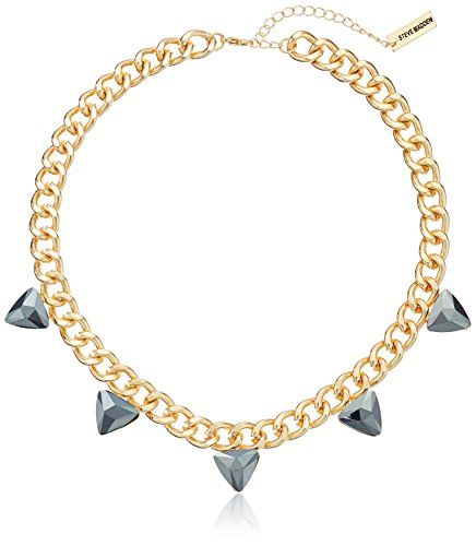 """Steve Madden Gold Steve Madded Simple Spike Chain Necklace, 17""""   3"""" Extender * Read review @"""