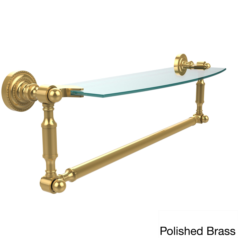 Allied Brass Dottingham 18-inch Glass Vanity Shelf with Integrated ...