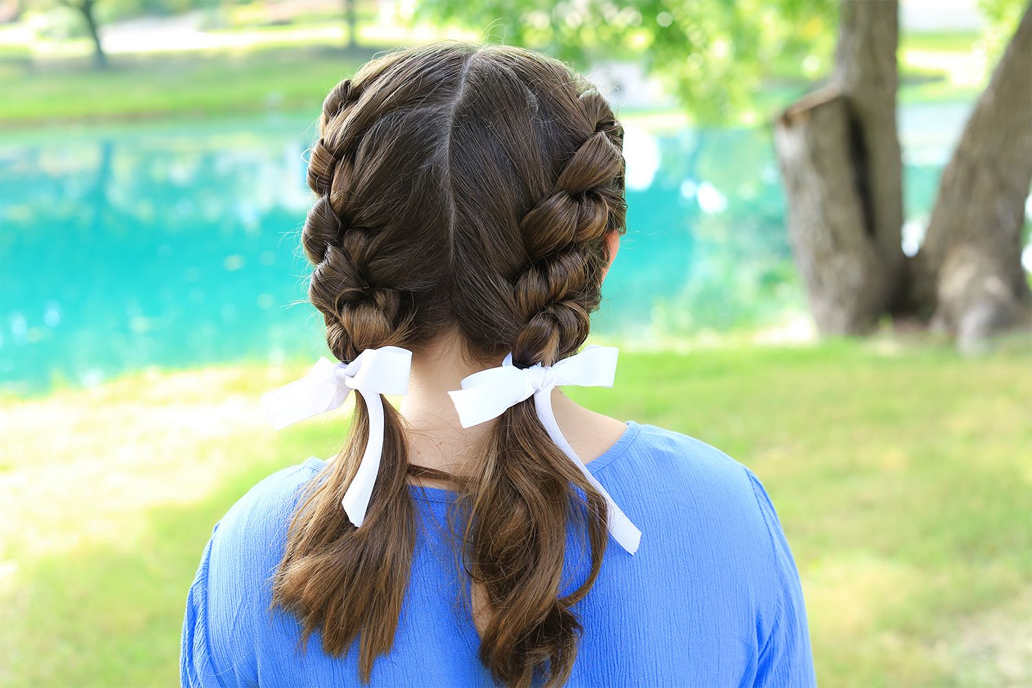 Shoelace braid cute girls hairstyles hair pinterest girl