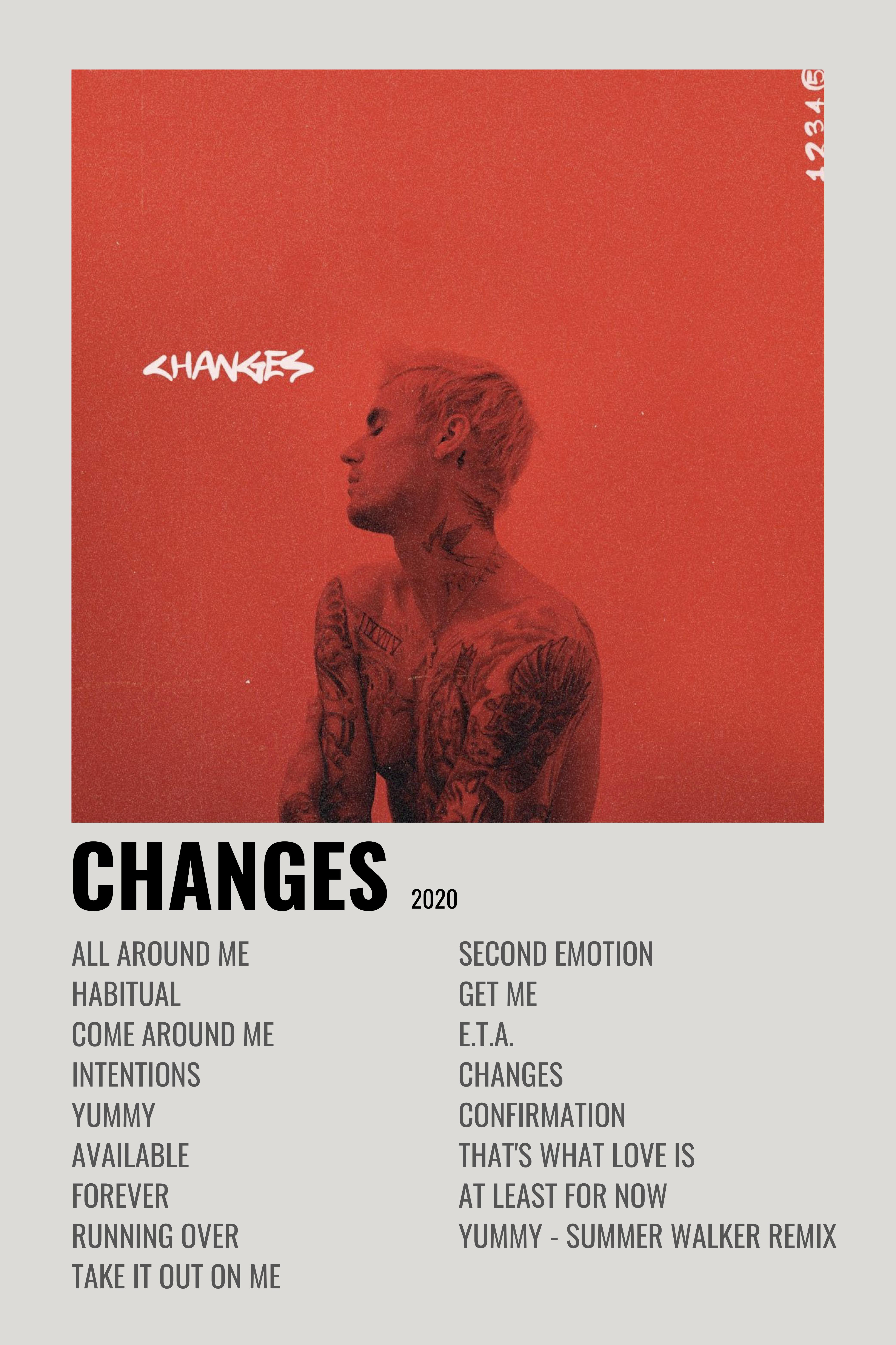 Justin Bieber Changes Desenhos