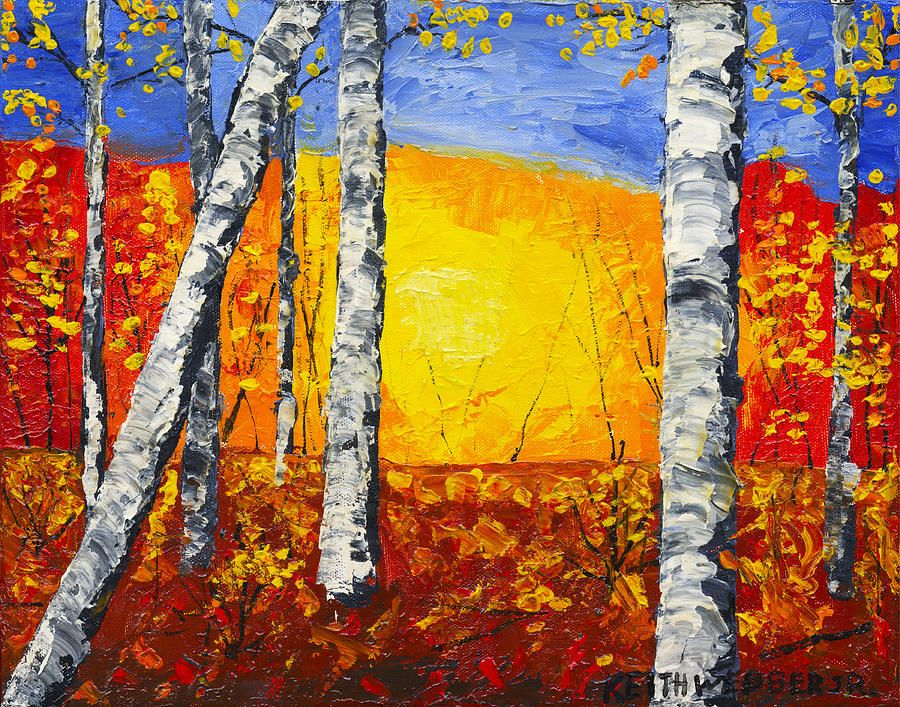 Abstract Tree Paintings | Autumn Abstract Paintings | trees ...