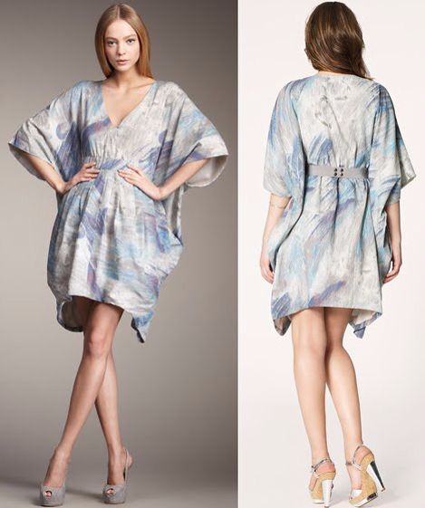 Bird by Juicy Couture cotton watercolour kimono