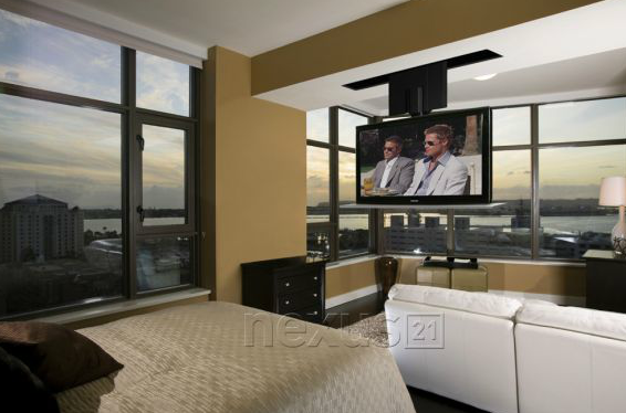 TV Lift In Front Of Window