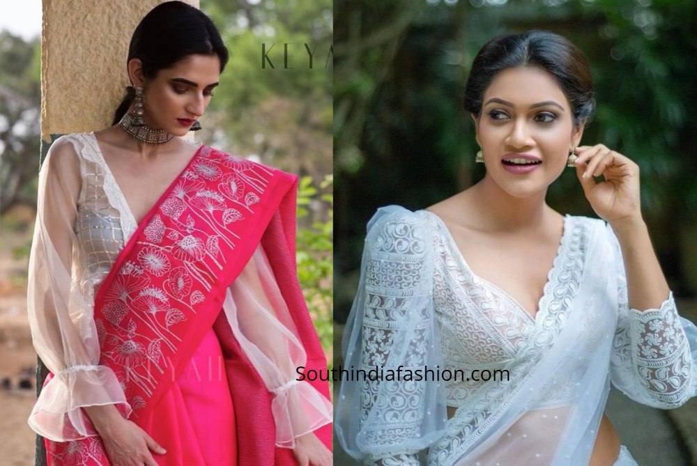 Stylish Saree Blouse Sleeves Designs Statement Sleeves Western Blouse Designs Stylish Sarees Saree Jacket Designs