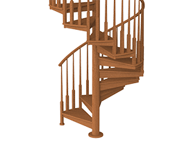 All Wood Spiral Stair Product Options – Paragon Stairs