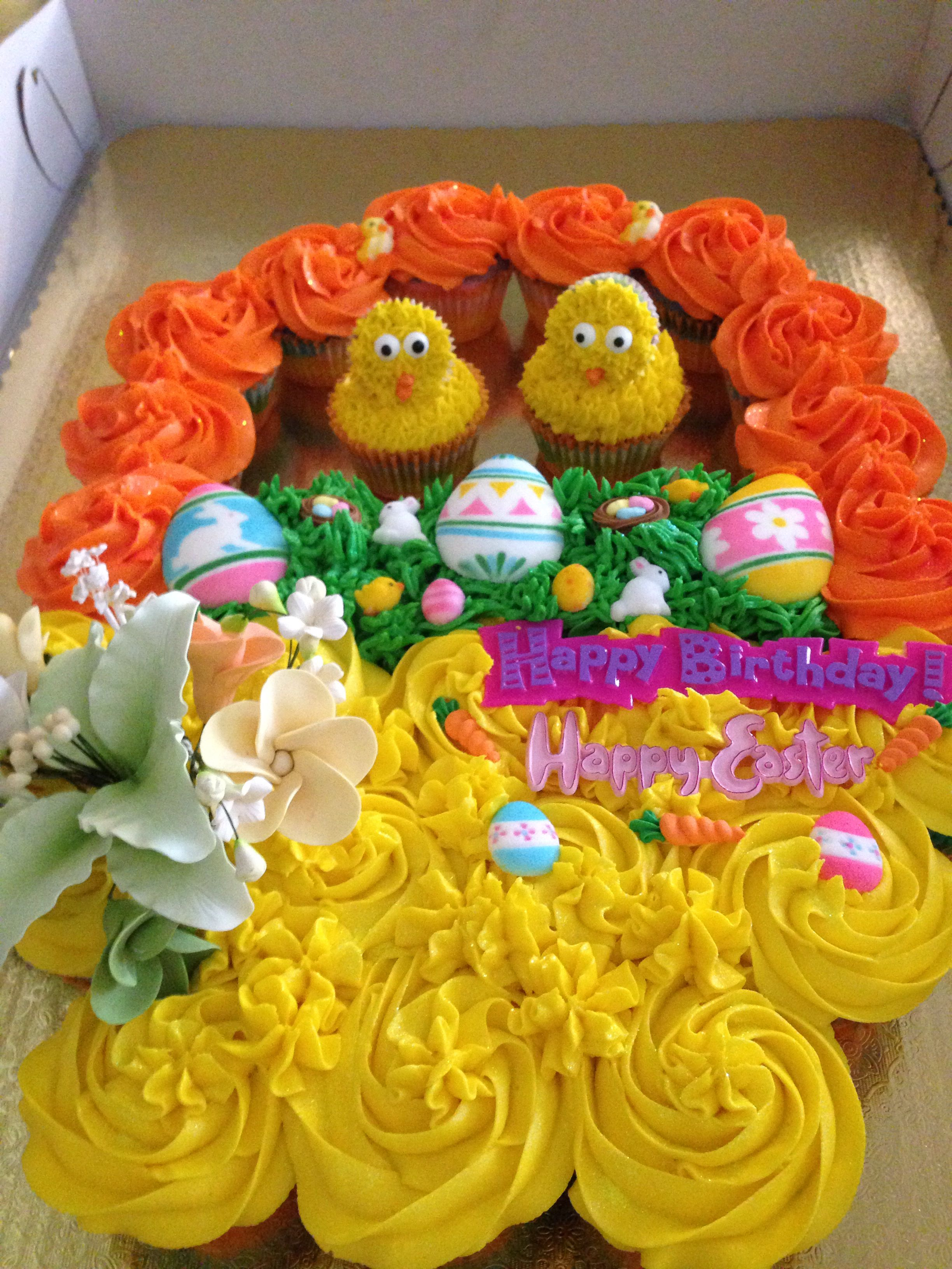 Easter Pull Apart Cake With Images Easter Bunny Cupcakes Pull