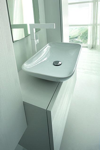 Vasque à poser FALL en céramique blanche by Arcom Arredobagno - Meuble Vasque A Poser Salle De Bain
