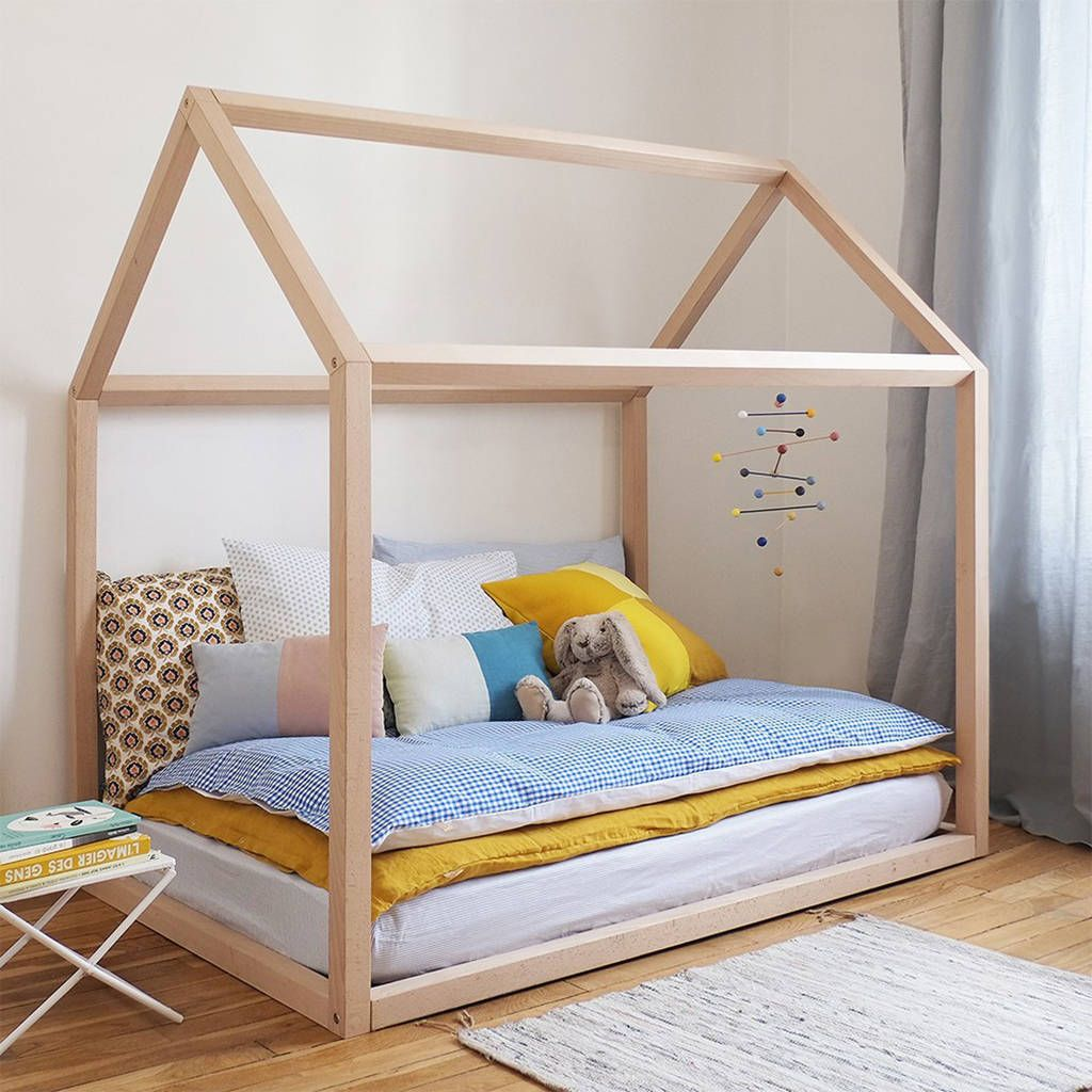 Wooden House Kids Bed House beds for kids, House frame