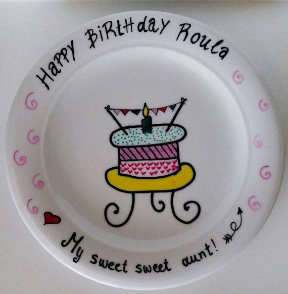 Check out this item in my Etsy shop https://www.etsy.com/uk/listing/470771084/happy-birthday-plate-made-to-order
