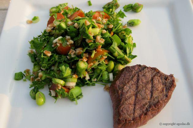 EGOSHE.dk - En madblog med South Beach opskrifter og andet godt...: Salat med krydderurter og edamame bønner
