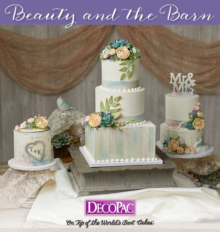 Wedding Cakes Inspired By China Patterns: Rustic Country Inspired Weddings Filled With Charm And