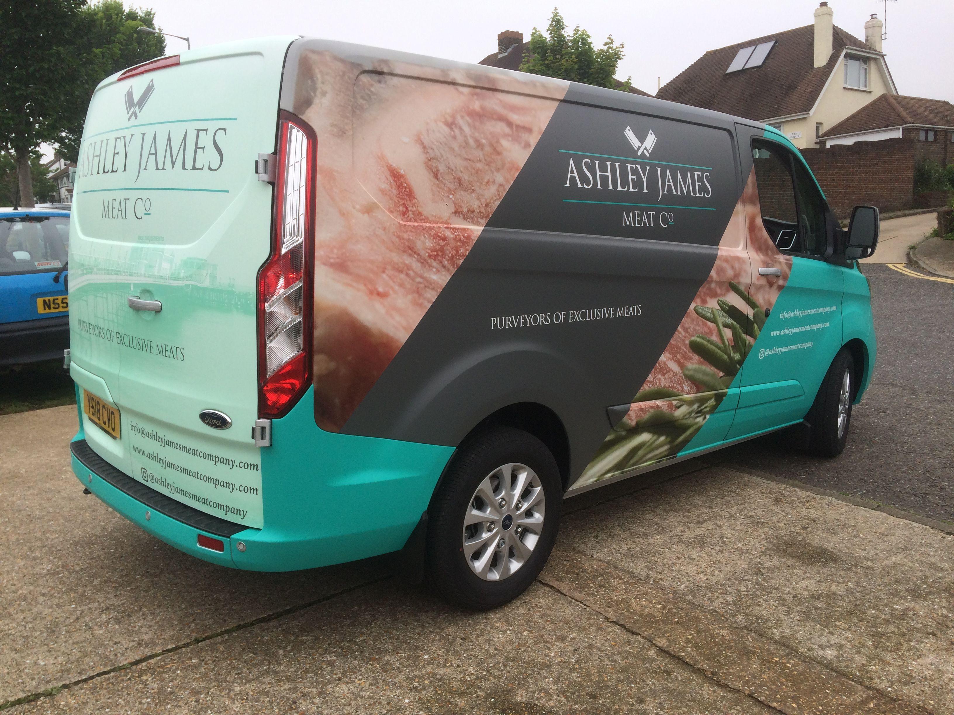 Full Vehicle Wrap With Digitally Printed Vinyl Graphics Creative Design That Mixes Gloss And Matt Vinyl To Create This Eye Catchi Van Design Car Wrap Bus Wrap