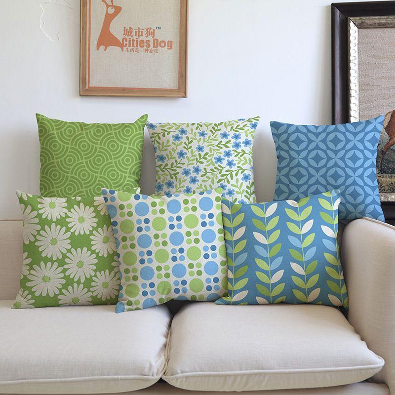 Geometric Home Decor Linen Pillow Case Sofa Car Sofa Waist Throw Cushion Cover