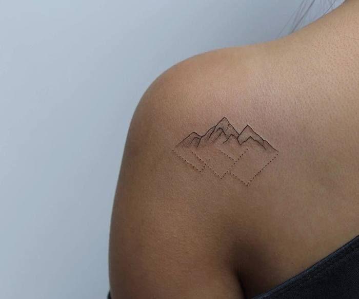 46 Magnificent Mountain Tattoo Designs Tattoobloq Minimalist Tattoo Pattern Tattoo Subtle Tattoos