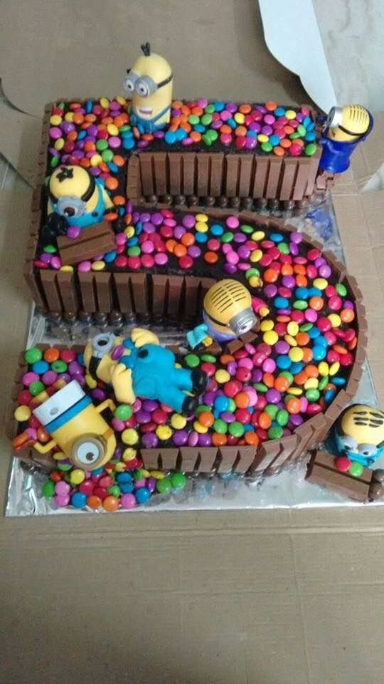 Turning 5 We Have A Cake With Minions And Candy That Any