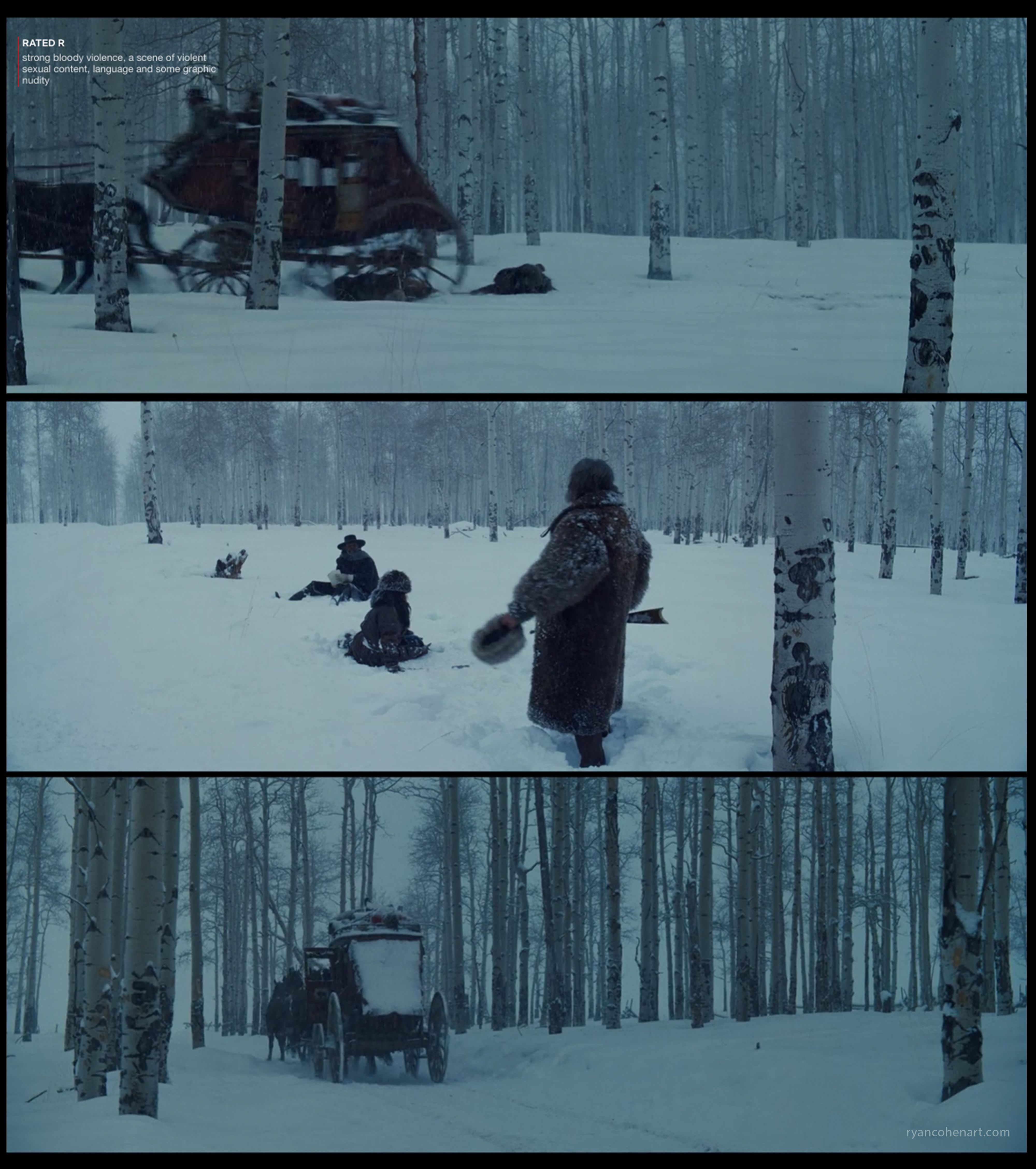 The Hateful Eight Screencaps Filmcolor Filmstills Filmstudy Cinematography The Hateful Eight Musical Movies Cinematography