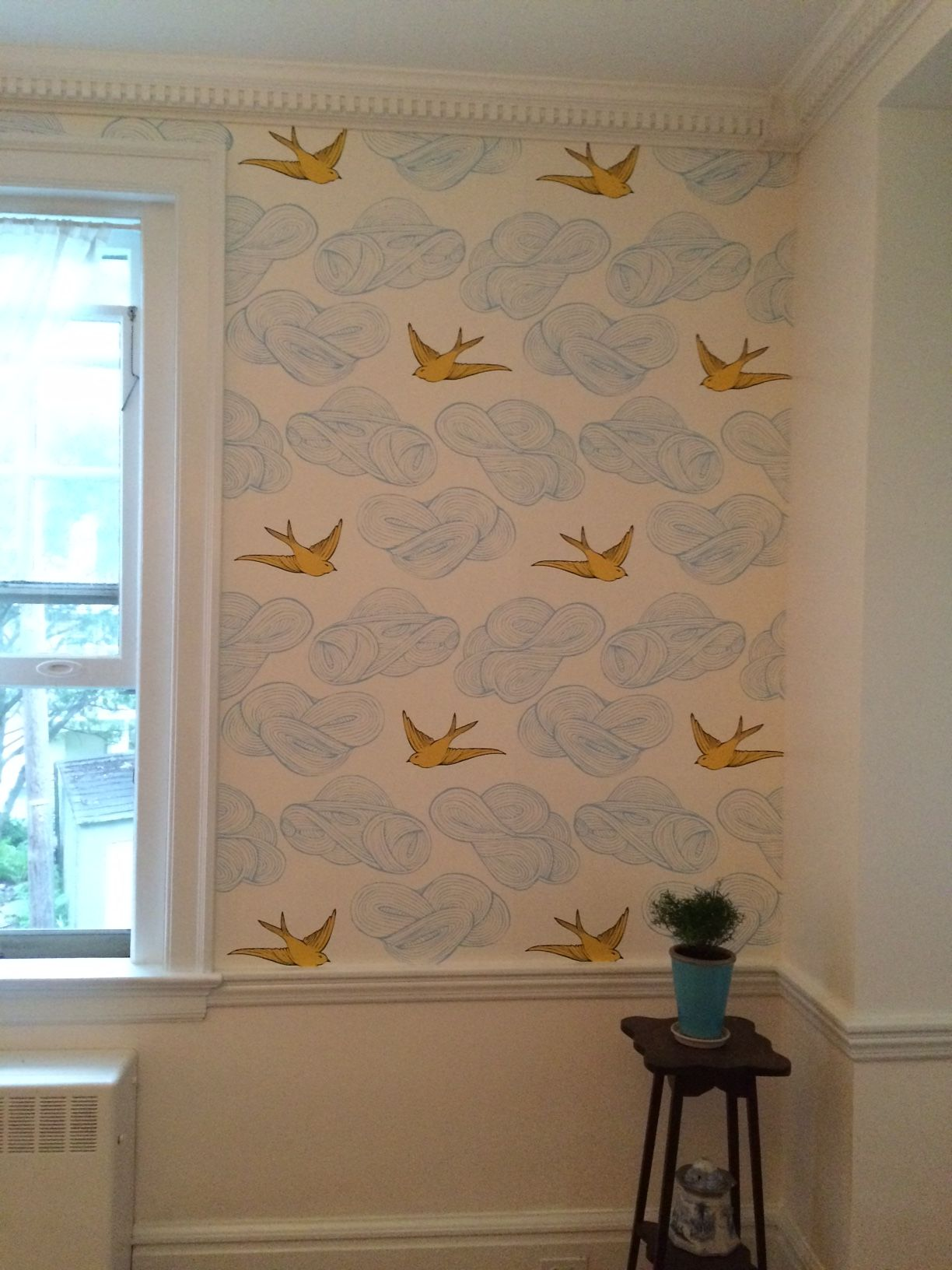 Finally finished my first ever DIY wallpaper project