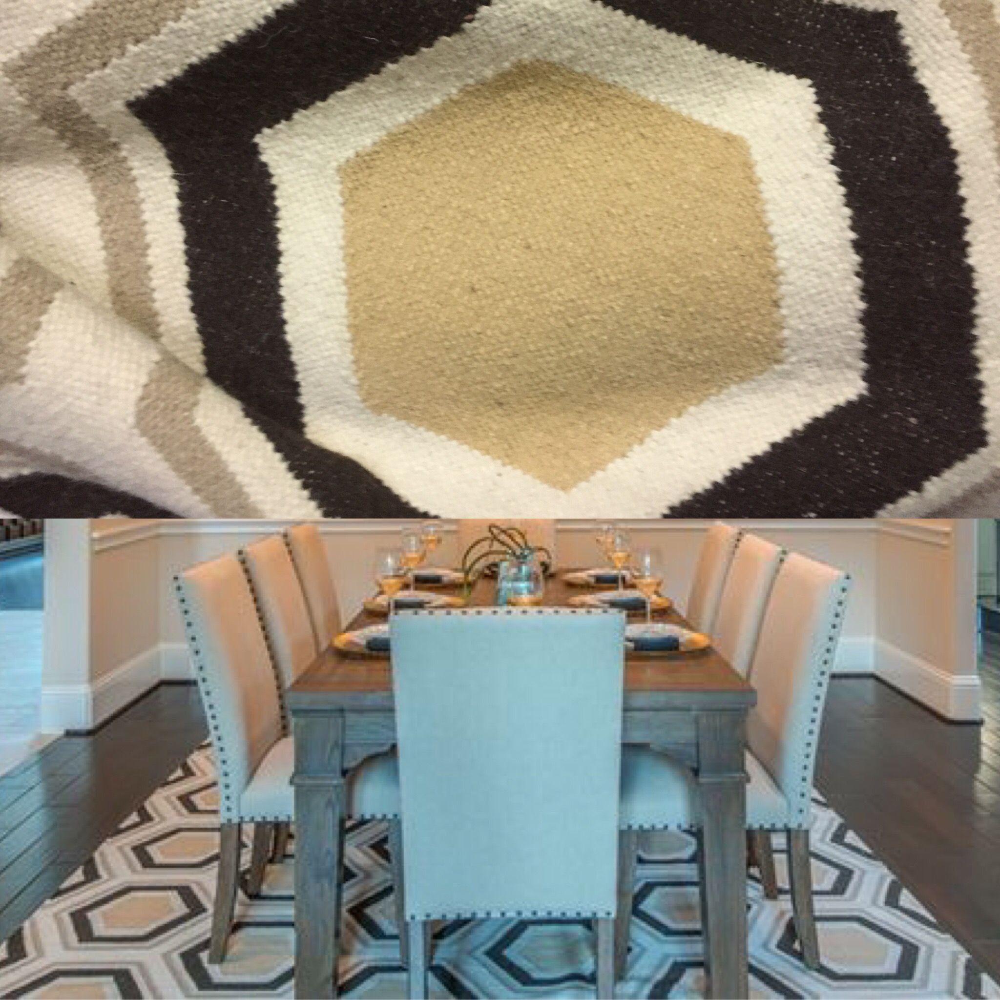 Stg0282 Brown Ivory Cream Octagon Rug Octagon Rugs Contemporary Rug Rugs