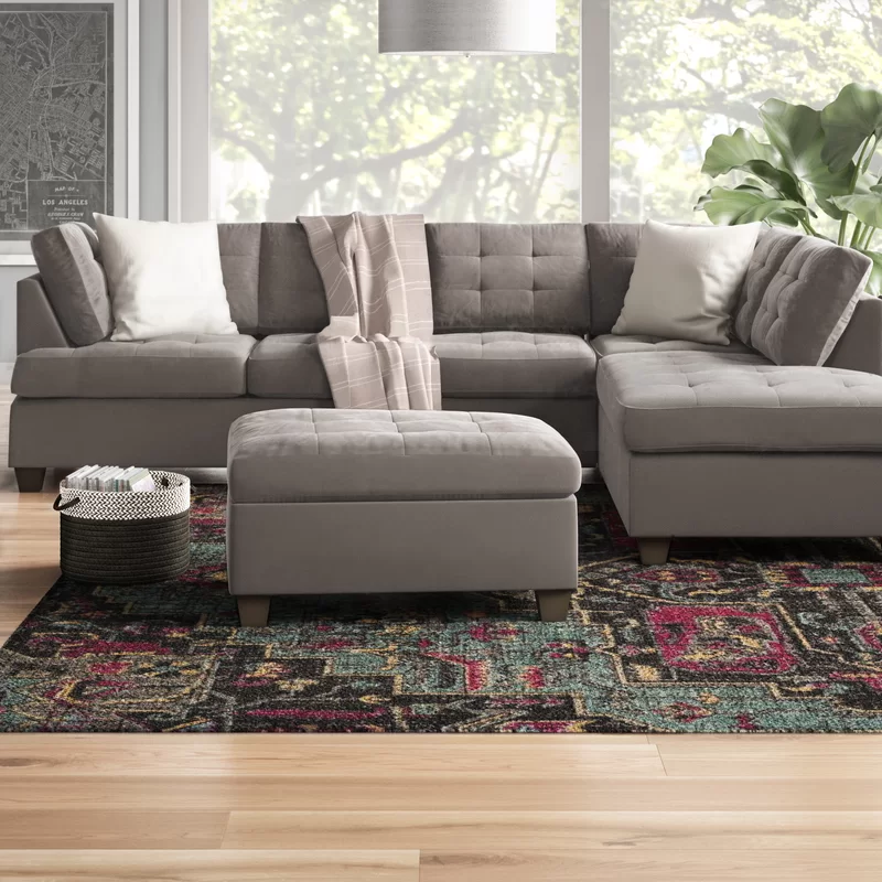 Worksop 103 Sectional With Ottoman Sectional Sofa Couch With Ottoman Sectional Sofa Couch