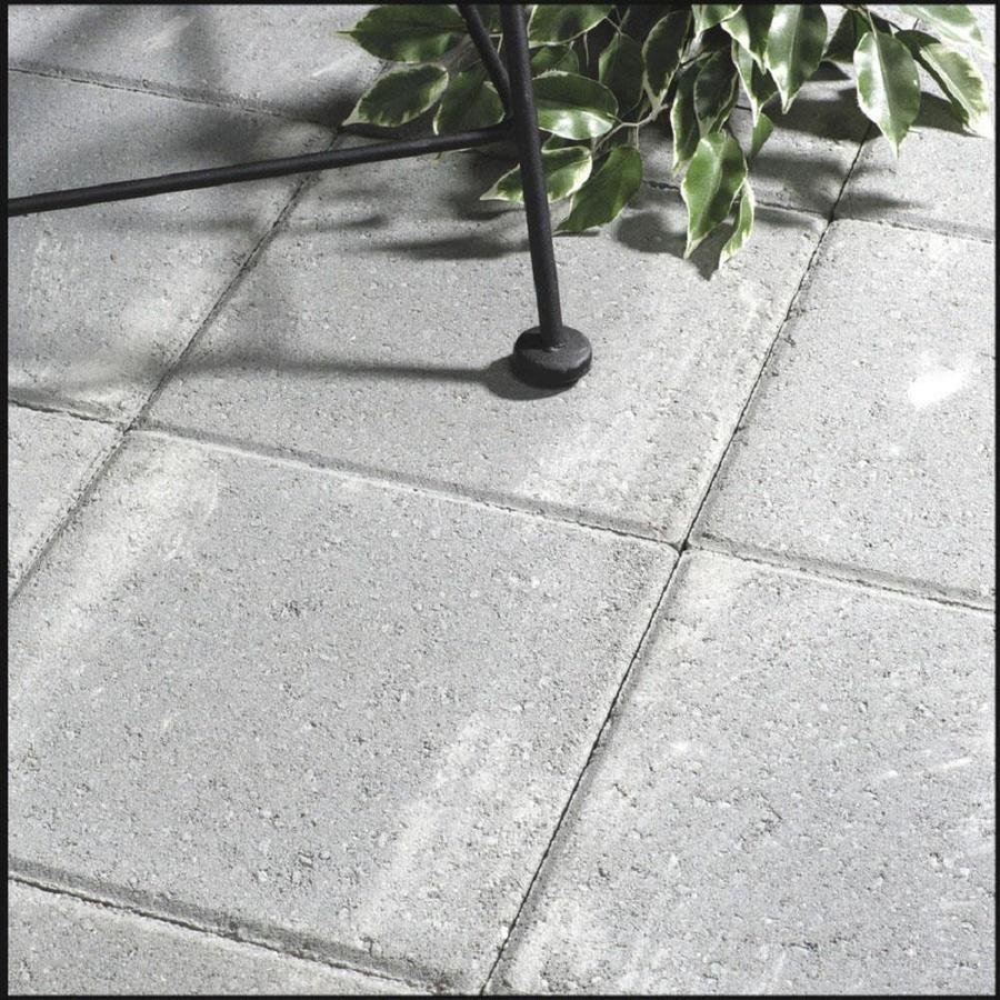 Square Gray Concrete Patio Stone Common 12 In X Actual 11 7 In