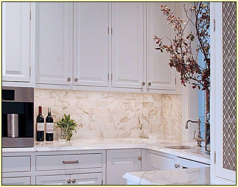 carrara marble subway tile kitchen