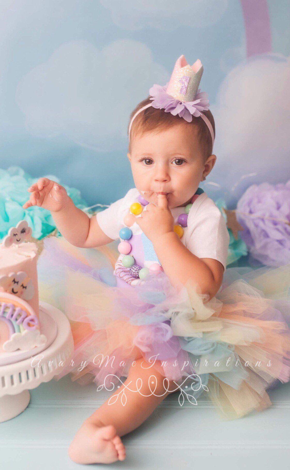 Pastel Rainbow Tutu, Baby Tutu, Infant Tutu, Toddler Tutu