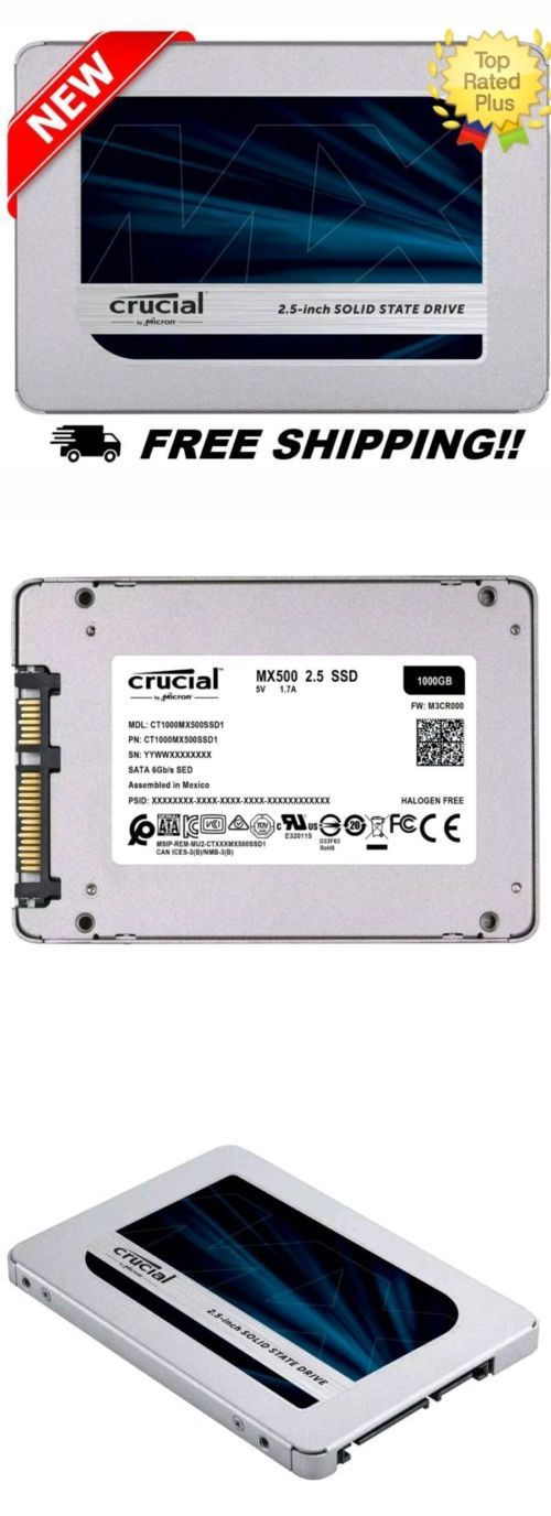 Solid State Drives 175669: New!- Crucial Mx500 1Tb 3D Nand Sata 2 5