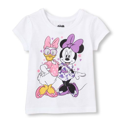 cf6507f6a Her best cartoon buds—Minnie Mouse and Daisy Duck—make for the ...