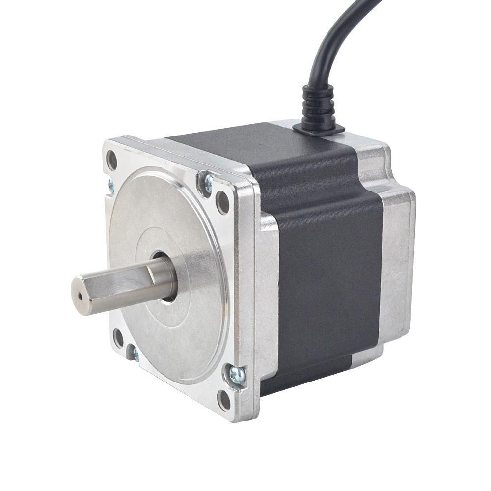 Nema 34 Cnc Stepper Motor 4 5nm 637 38oz In 86x86x79 5mm 4 Wires Stepper Motor Cnc Electronic Products