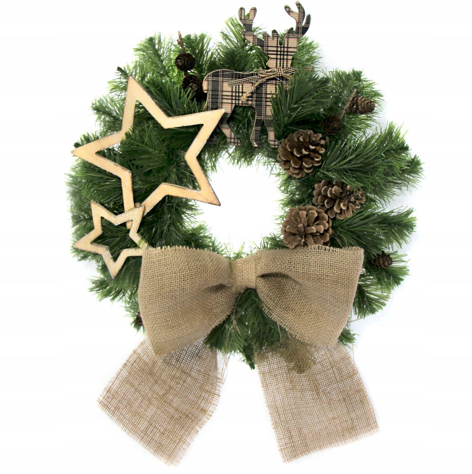 Wianek Swiateczny Dekoracja Stroik 45cm Wm 052 7657893990 Oficjalne Archiwum Allegro Christmas Decorations Christmas Wreaths Christmas Ornaments
