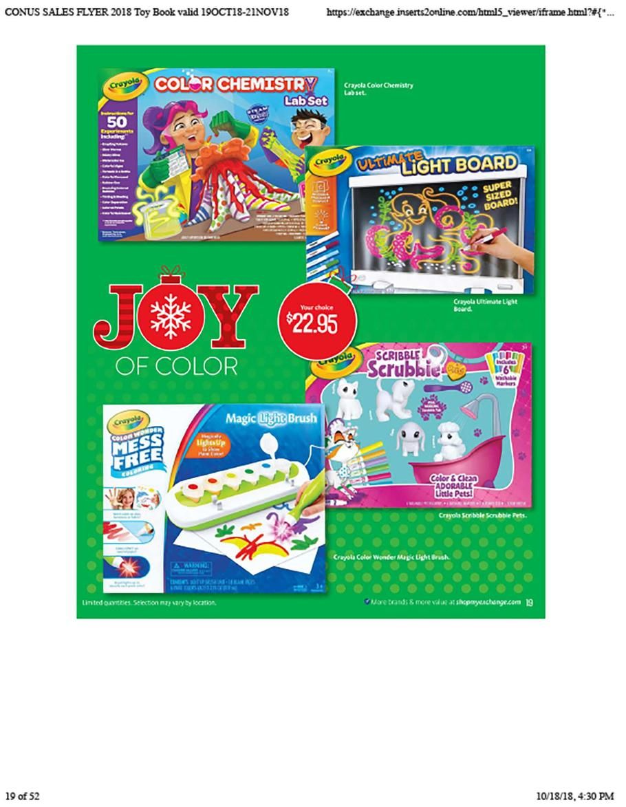 Aafes Toy Books 2018 Ads Scan Deals And Sales Books 2018 Book Deals Books