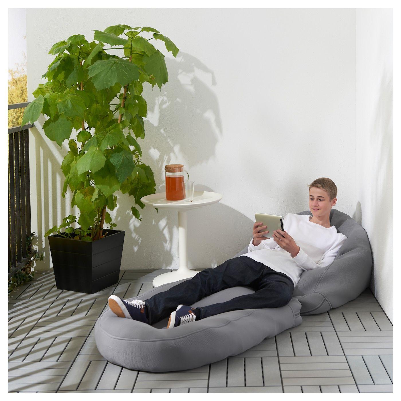 BUSSAN Sitzsack drinnen/draußen grau IKEA Österreich