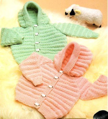 PDF Baby Children s Hoodie Jacket Hood Double Knitting 18 - 24 ...