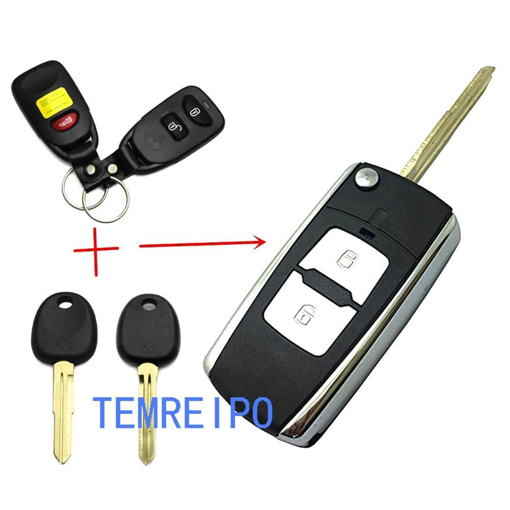 Replacement Car Key For Hyundai Tucson 2 1 Button Folding Remote
