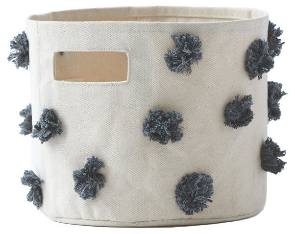 Pom Pom Kidsu0027 Bin, Charcoal   Storage U0026 Baskets   Decorative Accents   Decor
