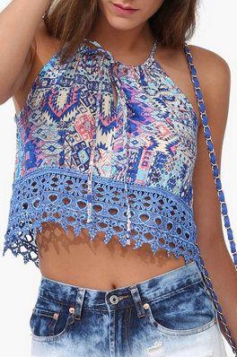 Mykonos Crochet Top