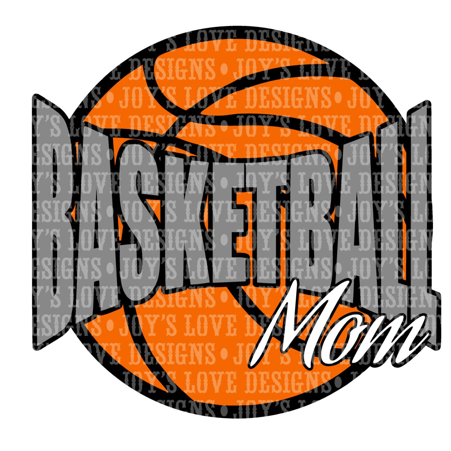 Basketball Mom SVG and DXF Digital Download by