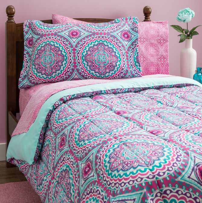 Bedding Sets Twin For Teens Girls Kids, Pink And Mint Twin Bedding