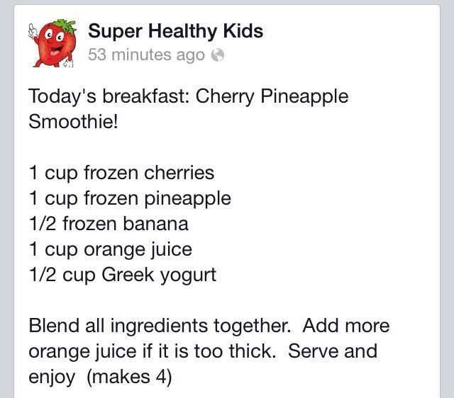Cherry pineapple smoothie