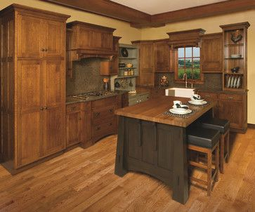 Craftsman style kitchen island | Mission-style White Oak ...